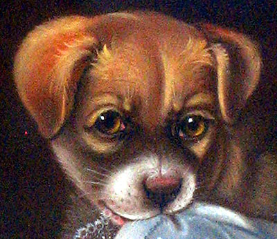 PASTEL OF A PUPPY