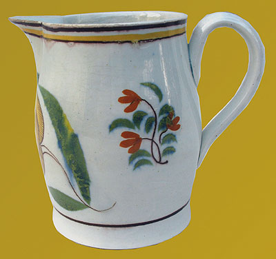 SOLD   A Pearlware Tulip Decorated Jug
