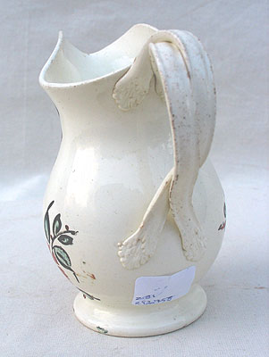 SOLD  A Beautifully Decorated Creamware Creamer
