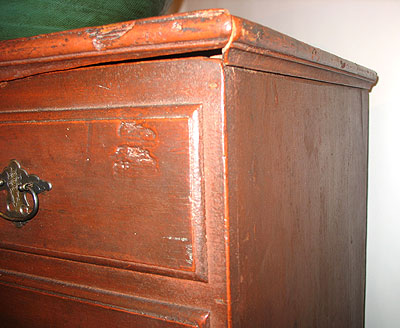 SOLD  An Untouched Late 18th Century Massachusetts Tall Chest