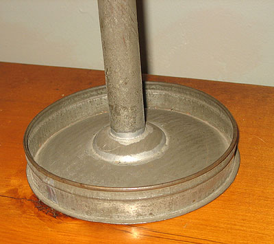 Metalware<br>Archives<br>SOLD  Tin Betty Lamp Stand