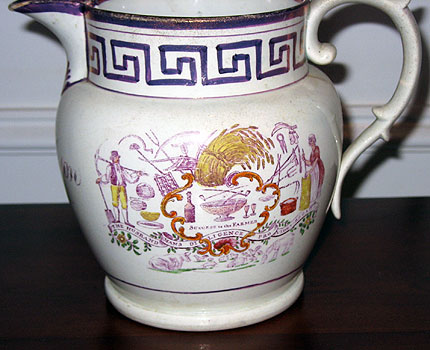 SOLD  1828 Lustre Pitcher
