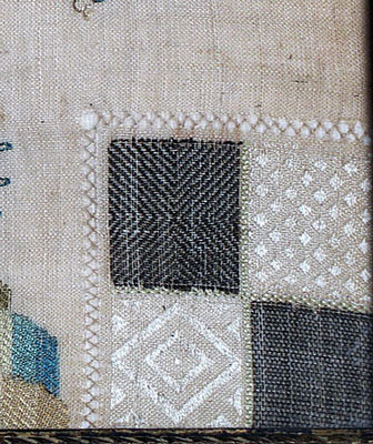 SOLD An unusual Chinoiserie Darning Sampler