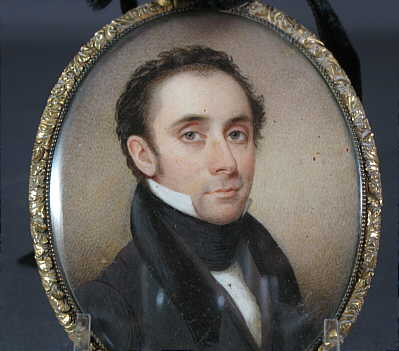 Portrait Miniature on Ivory of a  Handsome Gentleman
