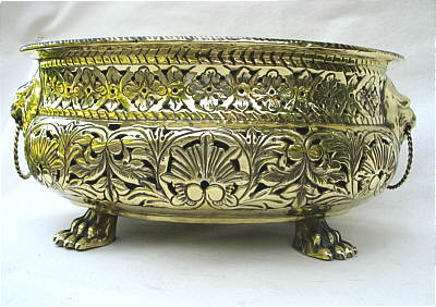 Metalware<br>Archives<br>A Pierced Dutch Brass Wine Cooler