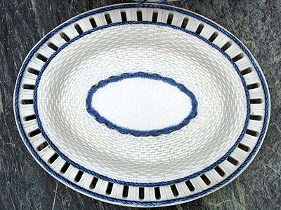 SOLD   A Pair of Pearlware Baskets and Undertrays