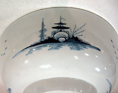 SOLD  A Blue and White Chinoiserie Bowl