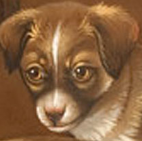 Paintings<br>Archives<br>SOLD Portrait of Three Puppies