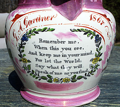 SOLD Sunderland Jug Crimea and Sailor's Farewell
