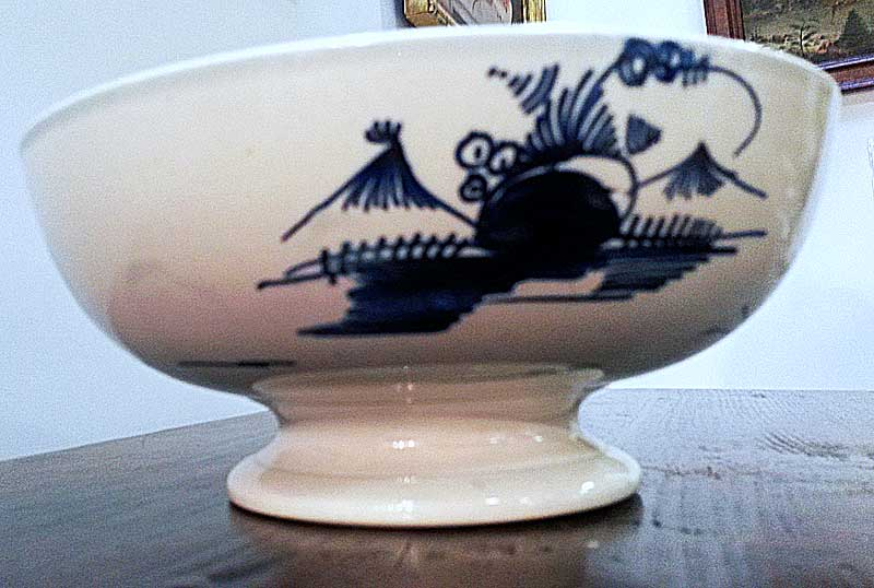 Dated Pearlware Footed Bowl