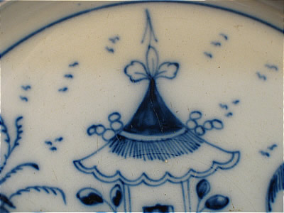 Accessories<br>Archives<br>SOLD   PEARLWARE PLATE WITH CHINESE PAGODA DECORATION