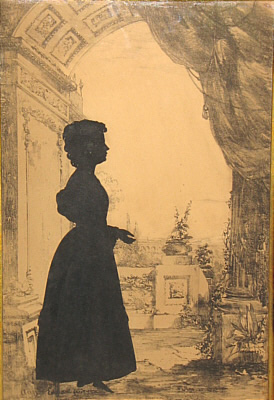 Accessories<br>Accessories Archives<br>SOLD   Silhouette of Young Lady by Edouart