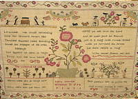 SOLD   English Sampler by Mary Vowles 1794