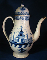 SOLD   Blue and White Chinoiserie Coffeepot