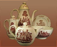 SOLD   18th Century Wedgwood Coffee and Tea Set