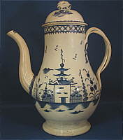 SOLD   Chinoiserie Coffeepot with Twisted Handles