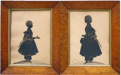 A Pair of Sisters cut by Hubard Gallery