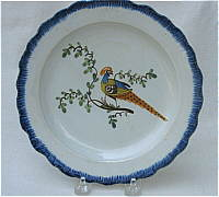 SOLD   Pearlware Peafowl Plate
