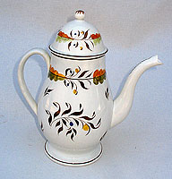 SOLD   A British Pearlware Coffee Pot