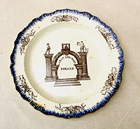 SOLD   Pearlware Shell Edge Marriage Plate