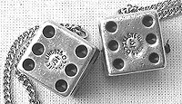SOLD   A Pair of Vintage Mexican Sterling Silver Dice