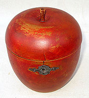 SOLD   A Red Apple Tea Caddy