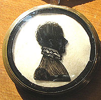 A Double Silhouette in a Locket