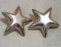 SOLD  A Pair of Tiffany Star Earrings