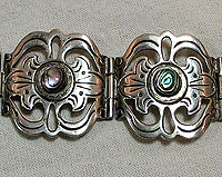 SOLD  Sterling and Abalone bracelet by Los Ballesteros