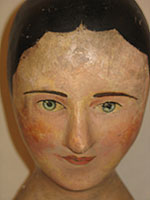 SOLD    A French Milliner's Head or Wig Stand