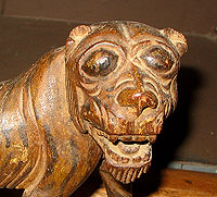 SOLD   A Folky Carved Lion