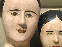 SOLD  Two Milliner's Heads