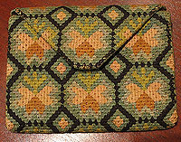 SOLD 18th Century Embroidered Wallet