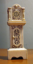 Bone (or the other stuff) Doll House Tall Clock