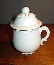 French Creamware Pot de Creme