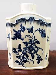 Pearlware Shell-edge tea canister