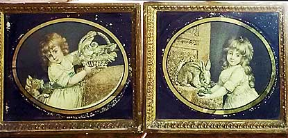 A Pair of Silk Embroideries of Children