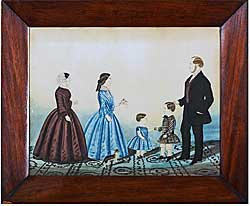 Watercolor of a family group