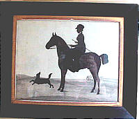 SOLD   Silhouette of Woman, horse and dog