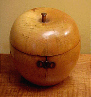 SOLD   Fruitwood Tea Caddy in the form of an Apple