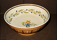 SOLD   Interesting Pearlware Bowl