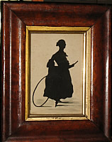 Silhouette of Lady with Hoop