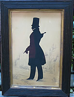 SOLD   Silhouette of a Gentleman by Edouart