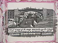 SOLD   Sunderland Plaque with a view of the Iron Bridge