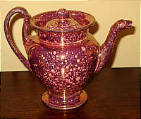 SOLD   French Pink Lustre Teapot